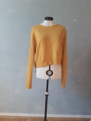 H&M Pull en crochet jaune-orange doré