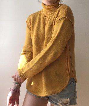 Mango Maglione dolcevita giallo-oro-giallo