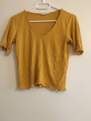 Senffarbenes kurzes Shirt