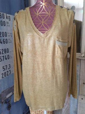 Made in Italy Camicia lunga sabbia-oro