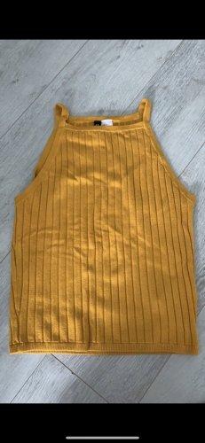 H&M Top basic giallo-oro