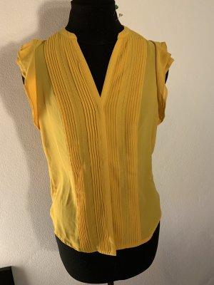 • Senfgelbe Bluse mit Rüschenärmeln •• [H&M]