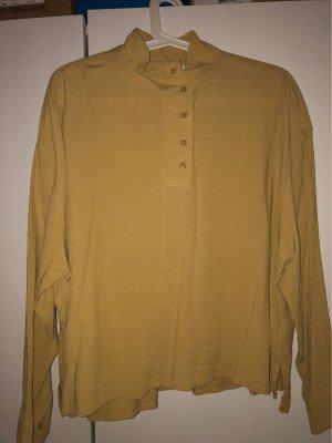 Senfgelbe Cropped Bluse von Weekday Gr. S