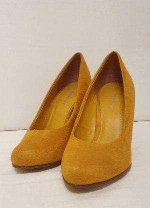 Senfgelbe High Heels/Pumps