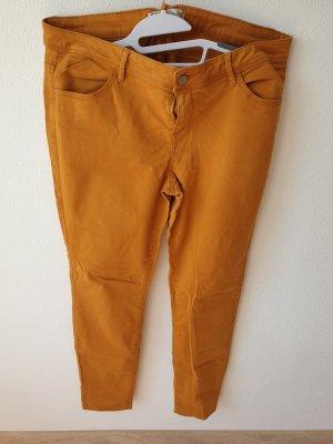 basics clockhouse Spodnie rurki żółty