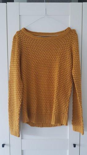 Senfgelber dünner Pullover