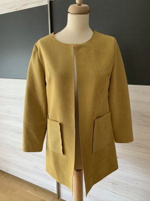 new collection Frock Coat dark yellow polyester