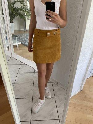 Senfgelber Lederrock von Zara