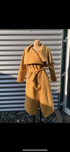 Veste longue orange doré