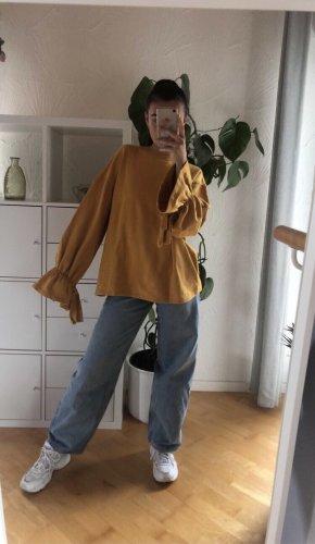 Senfgelber Oversize Pullover