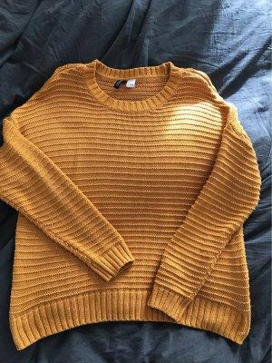 H&M Pull oversize orange doré