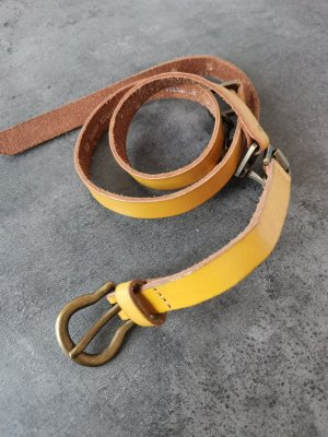 H&M Leather Belt gold-colored-yellow