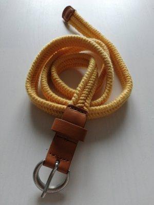 Cinturón de lona amarillo