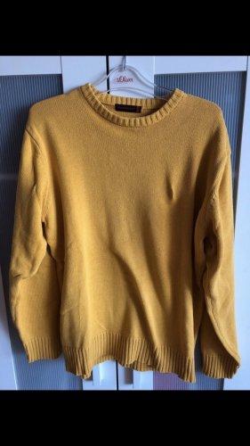 Senfgelber Vintage Pullover