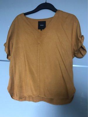 Object Camisa con cuello V naranja dorado