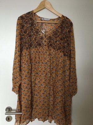 Zara Vestido Hippie multicolor