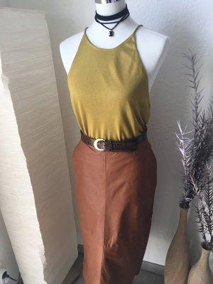 H&M Top de tirantes finos marrón arena-ocre