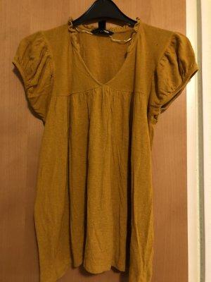 H&M Maglia con scollo a V arancione chiaro-giallo-oro
