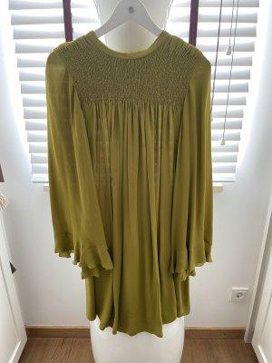 Senfgrünes Midi Kleid von Dorothee Schumacher