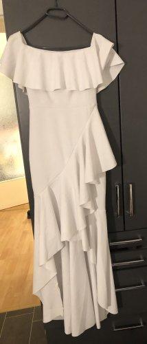 Asos Off-The-Shoulder Dress white