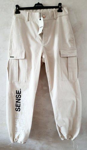 Workowate jeansy kremowy