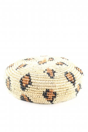 Sensi Studio Straw Hat natural white-light orange graphic pattern casual look