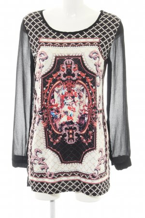 Long-Bluse Motivdruck Casual-Look