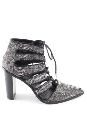 Senso High Heel Sandaletten schwarz-weiß Allover-Druck Casual-Look