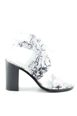 Senso High Heel Sandaletten weiß-schwarz abstraktes Muster Street-Fashion-Look