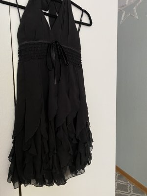 Unbekannte Marke Sukienka z falbanami czarny Poliester