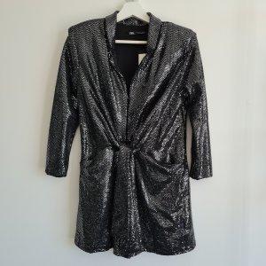 Zara Onesie argenté tissu mixte