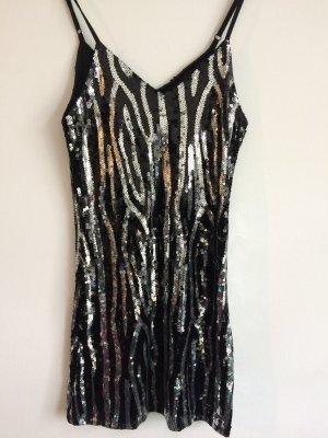 Primadonna Collection Vestido de lentejuelas negro-color plata