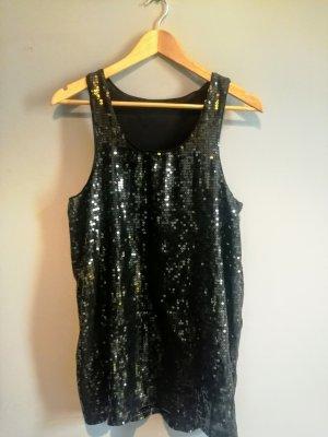 Vintage Robe à paillettes noir