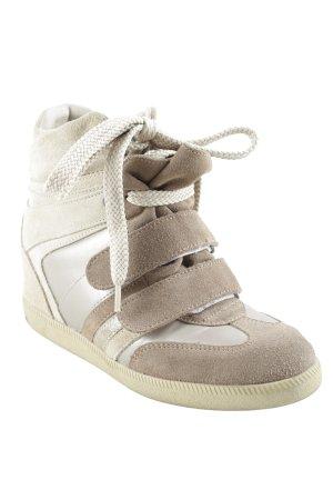 Serafini High Top Sneaker creme-hellbraun Casual-Look