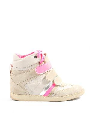 Serafini Sneaker con zeppa crema-rosa stile casual