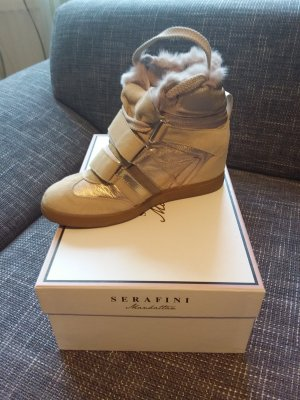 Serafini Wedge Sneaker cream-sand brown
