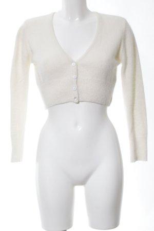 Seraphine Bolerko z dzianiny w kolorze białej wełny W stylu casual