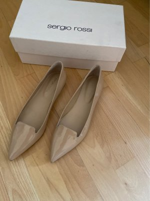 Sergio Rossi Patent Leather Ballerinas nude