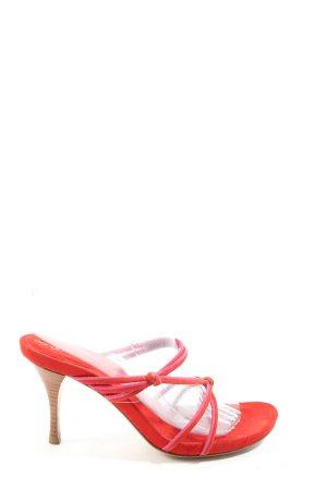 Sergio Rossi High Heel Sandaletten rot Elegant