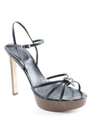 Sergio Rossi High Heel Sandaletten schwarz-braun Business-Look
