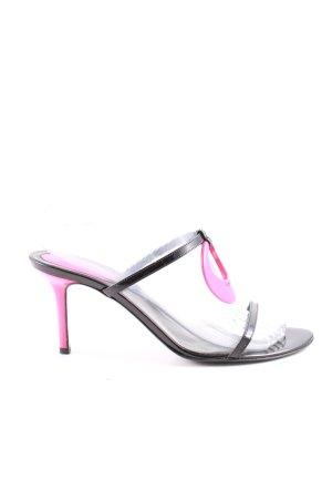 Sergio Rossi High Heel Sandaletten schwarz-pink Casual-Look
