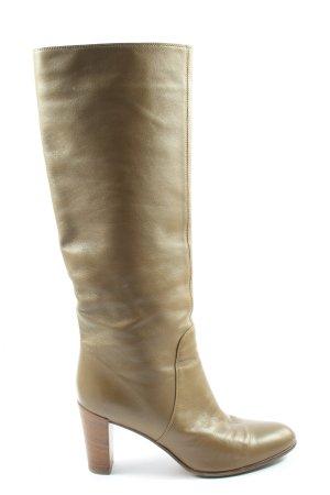 Sergio Rossi High Heel Stiefel braun Business-Look