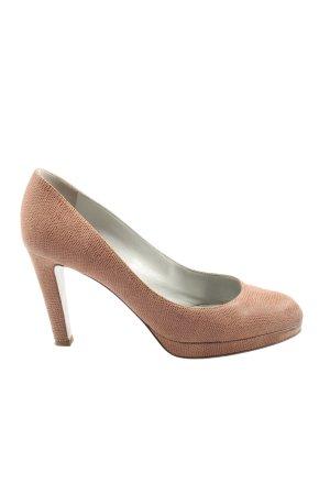 Sergio Rossi High Heels braun-bronzefarben Allover-Druck Casual-Look