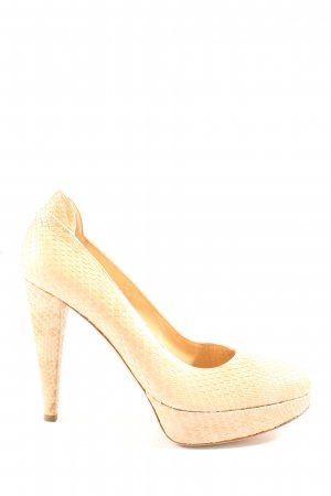 Sergio Rossi High Heels creme Allover-Druck Casual-Look