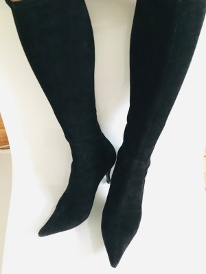 Sergio Rossi Stretch Boots black leather