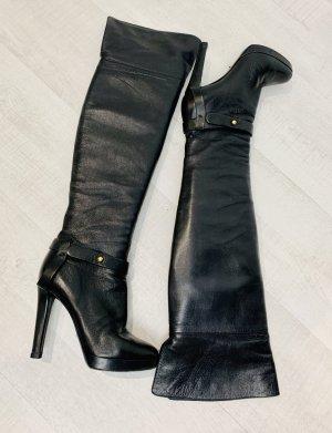 Sergio Rossi Overknees black leather