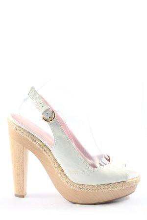 Sergio Rossi Peep Toe Pumps white casual look