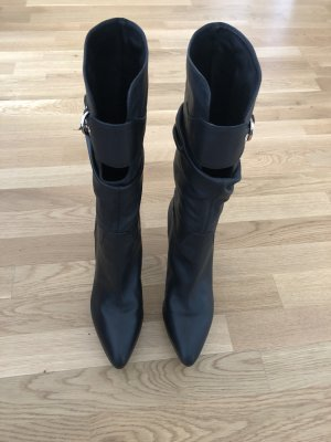Sergio Rossi Platform Boots black leather