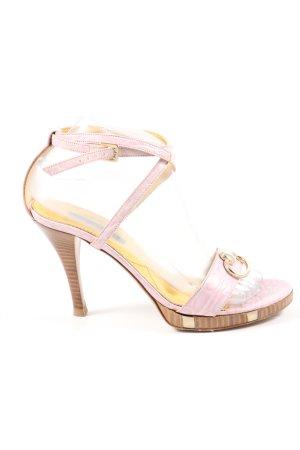 Sergio Rossi Riemchenpumps pink Casual-Look