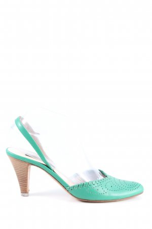 Sergio Rossi Slingback Pumps turquoise casual look